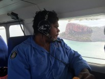 Scientists and rangers study marine life from the air